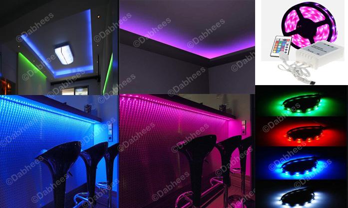 4m wohnzimmer stimmungslicht rgb led streifen k che schlafzimmer party 5081949819750 ebay. Black Bedroom Furniture Sets. Home Design Ideas
